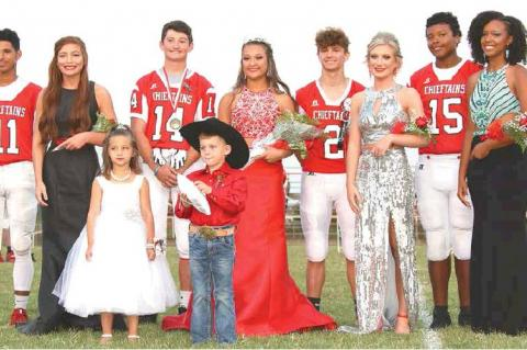 Trenton Peel and Brianna McGirt chosen as 2019 WHS Football Homecoming King and Queen