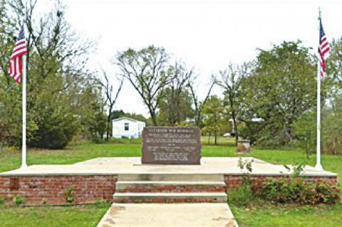 Clearview War Memorial Receives Some Tender Loving Care