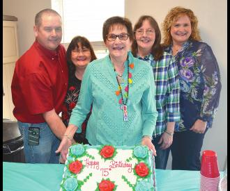 Bertie Lou Stringfellow honored with surprise 75th birthday celebration